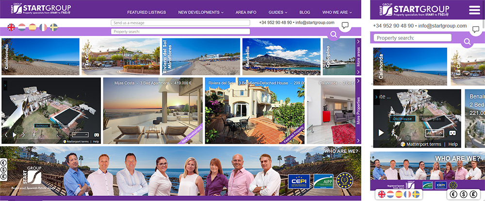 StartGroup Real Estate Website